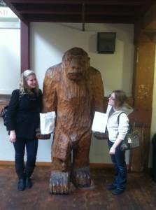 Amber and Sav with Bigfoot