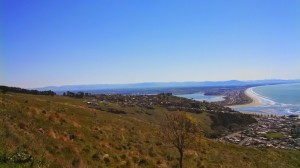 christchurch from hill